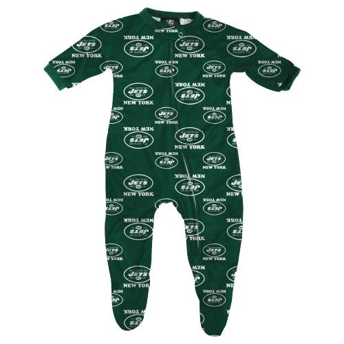 Outerstuff New York Jets NFL Infant Footed Raglan Zip Up Sleeper at Sears.com