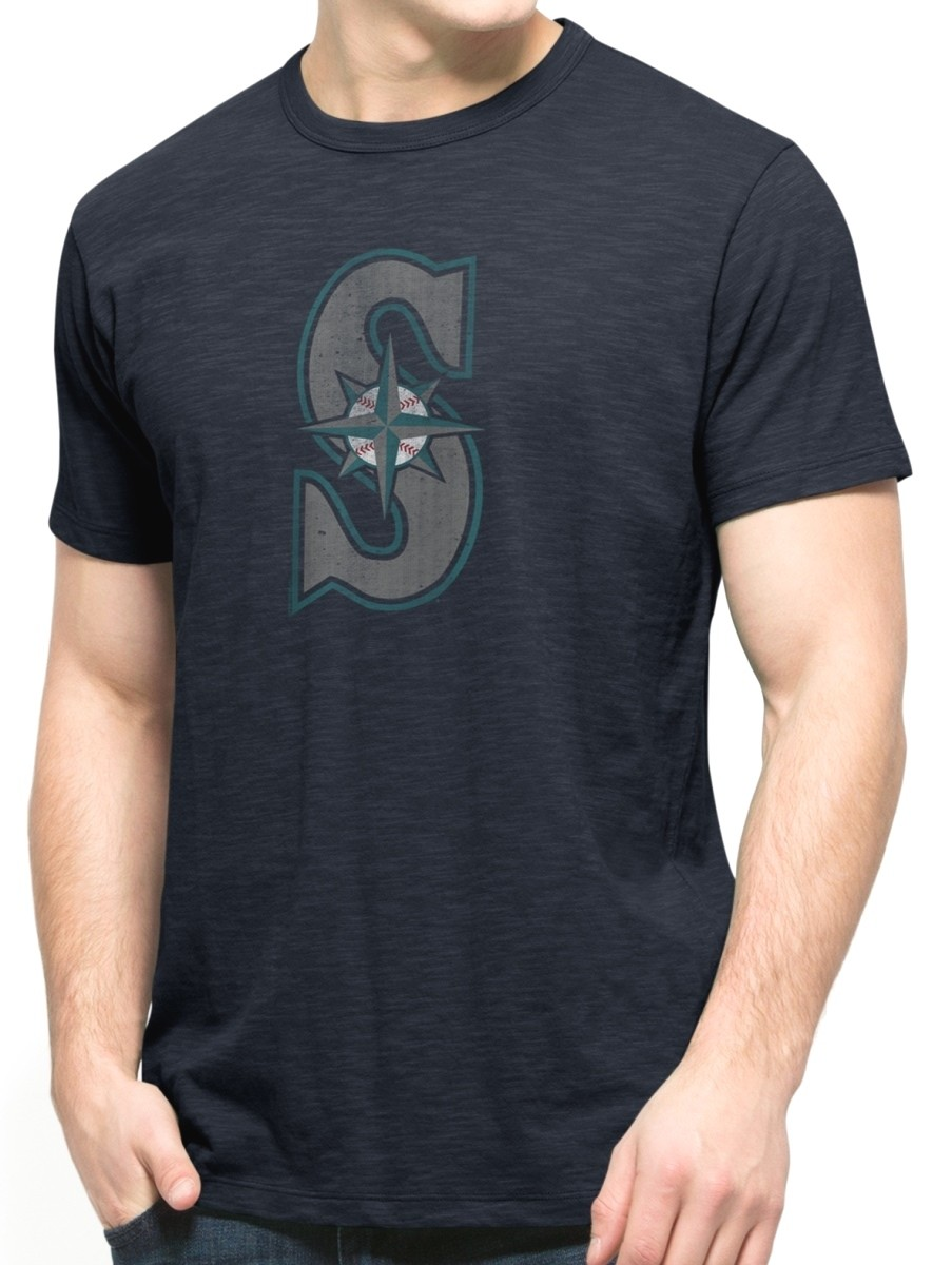 Seattle mariners 47 brand mlb men 39 s scrum premium navy t shirt Premium t shirt brands