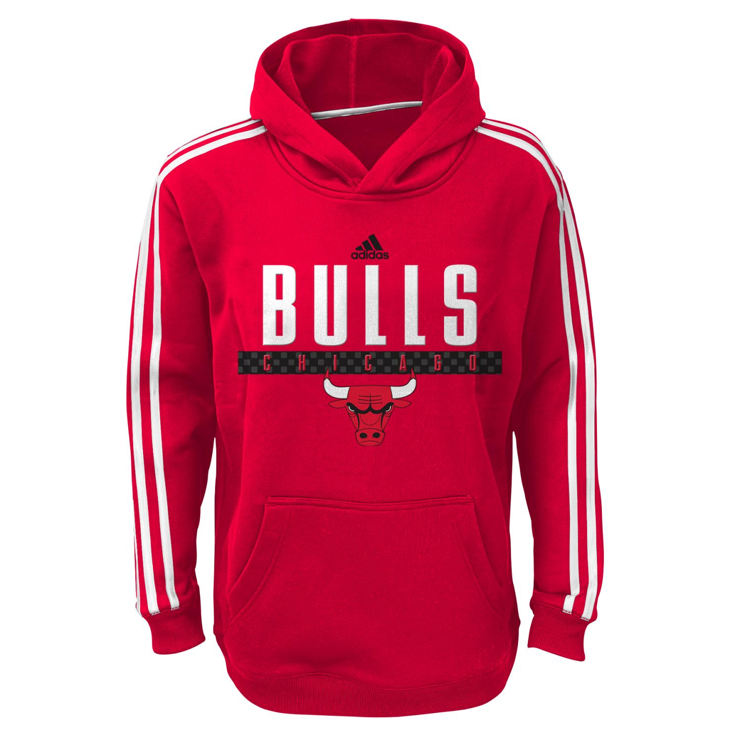 details about chicago bulls youth nba adidas playbook pullover. Black Bedroom Furniture Sets. Home Design Ideas