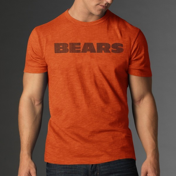 Chicago bears 47 brand vintage orange scrum legacy logo Premium t shirt brands