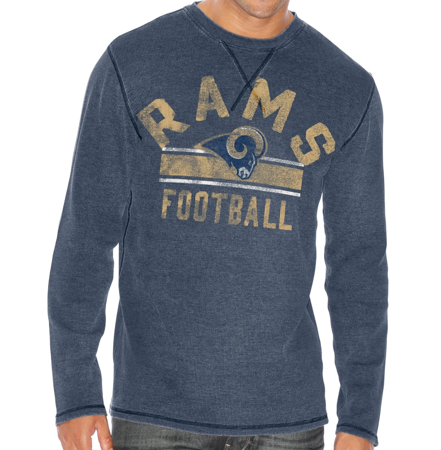 """G-III Sports St. Louis Rams G-III NFL """"Free Safety"""" Long Sleeve Thermal Shirt"""