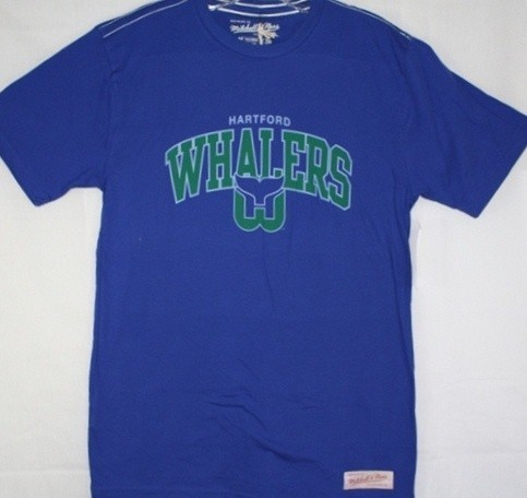 Hartford whalers mitchell ness blue vintage team name for T shirt printing hartford ct