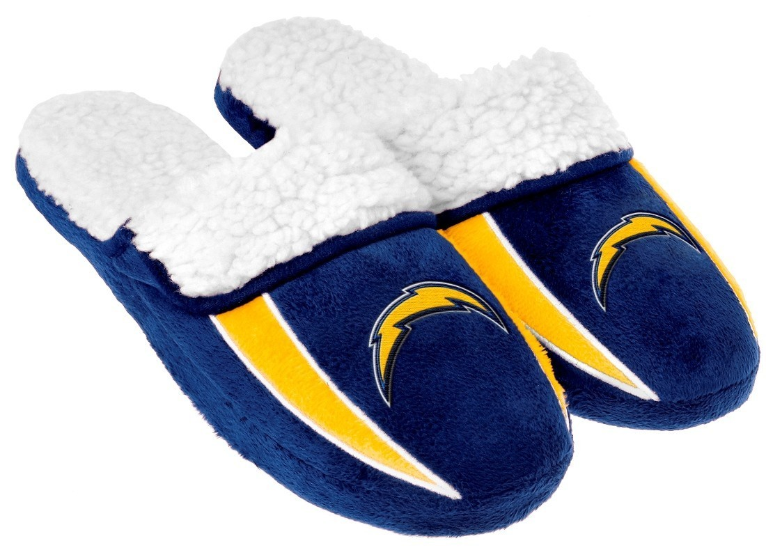 San Diego Chargers Nfl 2013 Men S Sherpa Slide Slippers