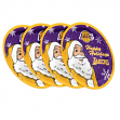"""Los Angeles Lakers NBA Holiday 10"""" Plastic Plate - 4 Pack"""