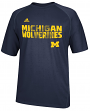 Michigan Wolverines Adidas NCAA 2014 Sideline Razor Performance Shirt
