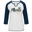 "St. Louis Rams Women's Majestic NFL ""Victory Is Sweet IV"" 3/4 Sleeve Shirt"