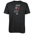 Portland Trail Blazers Adidas NBA Black Full Primary Logo T-Shirt