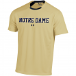 Notre Dame Fighting Irish Under Armour Sideline Performance S/S Shirt - Gold