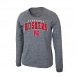 "Nebraska Cornhuskers NCAA ""Slate"" Long Sleeve Slub Shirt - Charcoal"