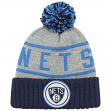 Brooklyn Nets Mitchell & Ness NBA High 5 Cuffed Pom Knit Hat - Blue/Navy