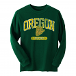 "Oregon Ducks NCAA ""Retro Fit"" Long Sleeve Men's Thermal Shirt - Green"