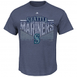 "Seattle Mariners Majestic MLB ""Fast Breakin"" Short Sleeve Men's T-Shirt"