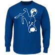 Indianapolis Colts Majestic NFL Playoffs Throwback Long Sleeve Men's T-Shirt