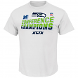 Seattle Seahawks Majestic 2014 NFC Conference Champions Locker Room S/S T-Shirt