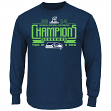 "Seattle Seahawks Majestic 2014 NFC Conference Champions ""Advancing"" L/S T-Shirt"