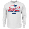 New England Patriots Majestic 2014 AFC Champions Locker Room L/S T-Shirt
