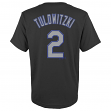 Troy Tulowitzki Colorado Rockies Youth Majestic MLB Player Black T-Shirt