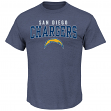 """San Diego Chargers Majestic NFL """"Red Zone"""" Men's Short Sleeve Premium T-Shirt"""