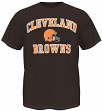 Cleveland Browns Majestic NFL Heart & Soul III Men's Brown T-Shirt