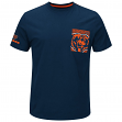 "Chicago Bears Majestic NFL ""Strong Drive"" Men's Pocket T-Shirt"