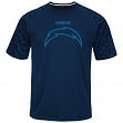 "San Diego Chargers Majestic NFL ""Skill in Motion"" Men's Cool Base T-Shirt"