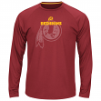 "Washington Redskins Majestic NFL ""Swift Pass"" Men's Cool Base L/S Shirt - Red"