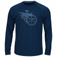 """Tennessee Titans Majestic NFL """"Swift Pass"""" Men's Cool Base L/S Shirt - Navy"""
