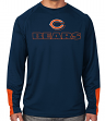 "Chicago Bears Majestic NFL ""Cutting"" Men's Cool Base Long Sleeve Shirt"