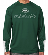 "New York Jets Majestic NFL ""Cutting"" Men's Cool Base Long Sleeve Shirt"