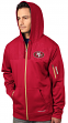 "San Francisco 49ers Majestic ""Action"" Men's F/Z Therma Base Hooded Sweatshirt"