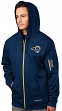 "St. Louis Rams Majestic ""Action"" Men's F/Z Therma Base Hooded Sweatshirt"