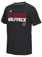 "North Carolina State Wolfpack Adidas NCAA ""Shock"" Sideline Performance S/S Shirt"