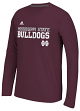 """Mississippi State Bulldogs Adidas NCAA """"Shock"""" Sideline Performance L/S Shirt"""