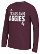 "Texas A&M Aggies Adidas NCAA ""Shock Energy"" Sideline Performance L/S Shirt"