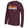 Arizona State Sun Devils Adidas NCAA Shock Energy Sideline Performance L/S Shirt