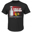 "Chicago Blackhawks 2015 Stanley Cup Champions Majestic ""Hatty"" Men's T-Shirt"