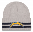 "San Diego Chargers New Era NFL ""2 Striped Cuff"" Cuffed Knit Hat"