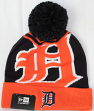 Detroit Tigers New Era MLB Logo Whiz Cuffed Knit Hat with Pom