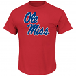 "Mississippi Ole Miss Rebels NCAA Majestic ""Football Icon"" Men's Red T-Shirt"