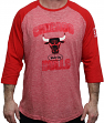 "Chicago Bulls Majestic NBA ""Ready to Go"" Men's 3/4 Sleeve Tri-Blend T-Shirt"