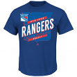 "New York Rangers Majestic NHL ""Earn Each Play"" Men's Fashion T-Shirt"