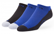 """Indianapolis Colts NFL 47 Brand """"Gait"""" 3 Pack Colorblocked Men's No Show Socks"""