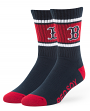 "Boston Red Sox MLB 47 Brand ""Duster"" Colorblocked Men's Crew Length Socks"