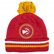 "Atlanta Hawks Mitchell & Ness NBA ""Big Man"" Cuffed Premium Pom Knit Hat"