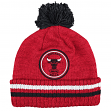 "Chicago Bulls Mitchell & Ness NBA ""Big Man"" Cuffed Premium Pom Knit Hat"