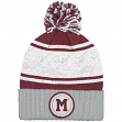 "Montreal Maroons Mitchell & Ness NHL ""Quilted Crown"" Cuffed Knit Hat w/Pom"