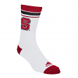 North Carolina State Wolfpack Adidas NCAA Jacquard Stripe Men's Socks - White
