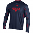 """Mississippi Ole Miss Rebels Under Armour NCAA """"Post Route"""" Performance L/S Shirt"""