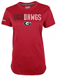 "Georgia Bulldogs Women's Majestic NCAA ""Stamina 1"" S/S Heathered Shirt"
