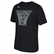 "San Antonio Spurs Adidas NBA ""Net Web"" Men's Short Sleeve T-Shirt"